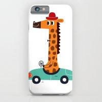 iPhone & iPod Case featuring giraffe driver by Joanne Liu