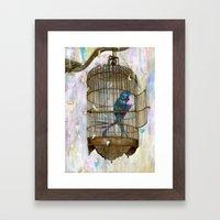 Birds in Love! Framed Art Print