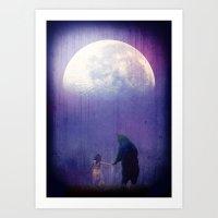 Follow your inner moonlight Art Print