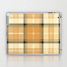 Gold Tartan Laptop & iPad Skin