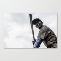 Ernie Banks Statue - Wri… Canvas Print