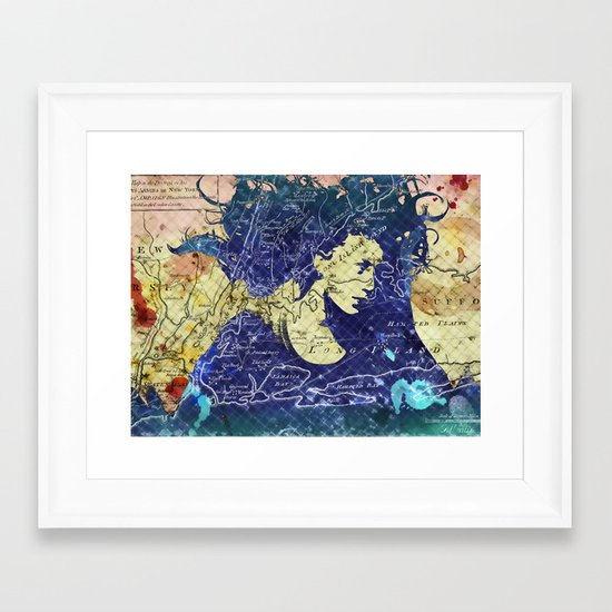 Lady of the Lake. Framed Art Print