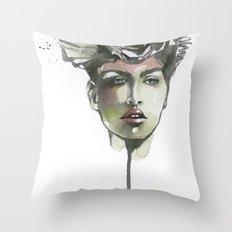Black Rose Throw Pillow