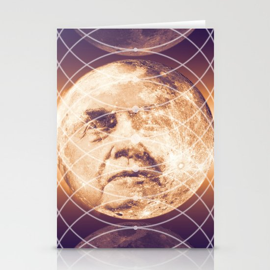 Man in the Moon Phases Stationery Card
