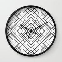 PS Grid 45 Wall Clock