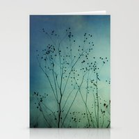 Fleeting Moment - Blue Shades Stationery Cards