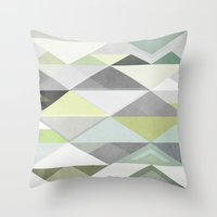 Nordic Combination III Throw Pillow