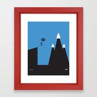 WTF? Ski Framed Art Print