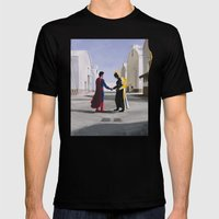 Wish You Were Here Mens Fitted Tee Black SMALL