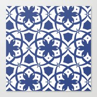 Pattern Print Edition 1 No. 1 (navy and white) Canvas Print