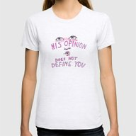 His Opinion Does Not Def… Womens Fitted Tee Ash Grey SMALL