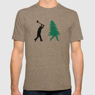 Funny Christmas Tree Hun… Mens Fitted Tee Tri-Coffee 2X-LARGE