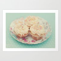 Heavenly cupcakes Art Print