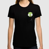Pocket Spare Parts Womens Fitted Tee Black SMALL