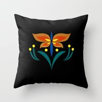 Anna Spring Embroidery Throw Pillow