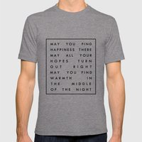 III. Find Happiness Mens Fitted Tee Tri-Grey SMALL