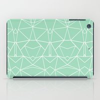 Abstract Mirror Mint iPad Case