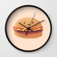 Burger Buddy Wall Clock