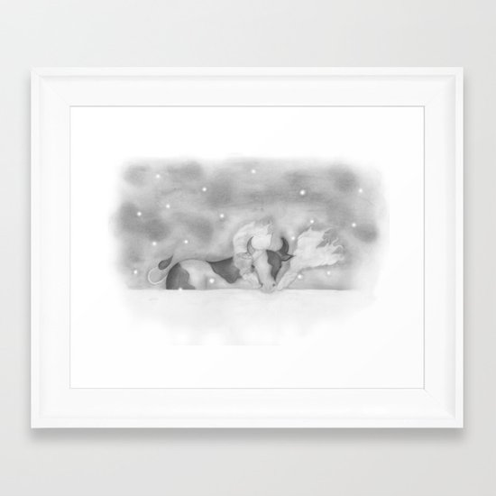 Cold Cow Framed Art Print