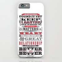 "iPhone & iPod Case featuring Steve Jobs ""If you haven't found it yet"" quote print by One Six Eight One"