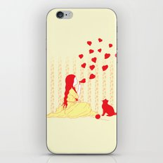 Bubbly Hearts iPhone & iPod Skin