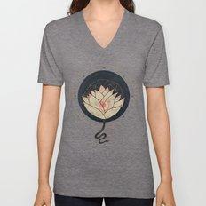Lotus Unisex V-Neck