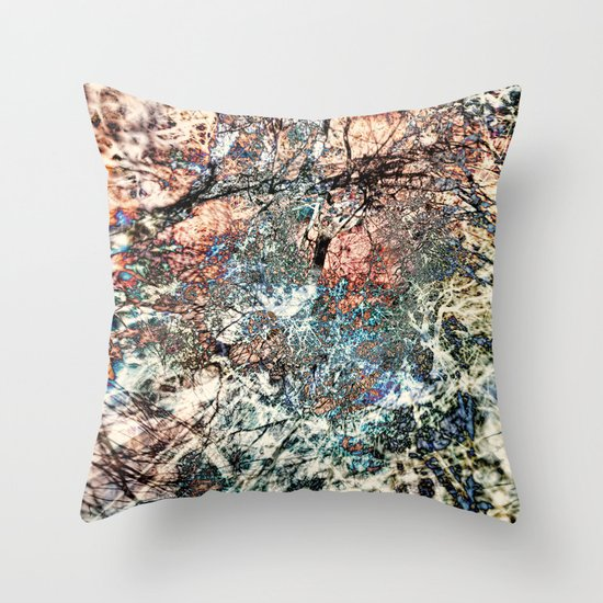 Tangled Tree Throw Pillow