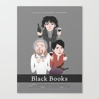 Black Books Canvas Print