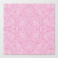 Ab Lace Pink Canvas Print