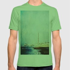 On The Front Textured Fine Art Photograpy Mens Fitted Tee Grass SMALL