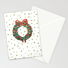 Christmas Wreath II Stationery Cards
