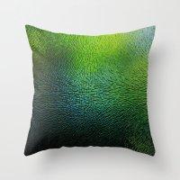 Fingerprints #green Throw Pillow
