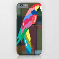iPhone & iPod Case featuring parrot by mark ashkenazi