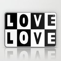 Love Black Laptop & iPad Skin