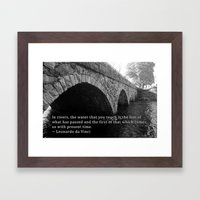 Pleasant Street Bridge - With Quote Framed Art Print