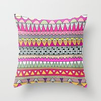 Tribal Lines Throw Pillow