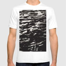 Ripple Effect SMALL Mens Fitted Tee White