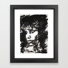Retrato/Face Framed Art Print