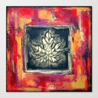 Leaf Imprint - Textured … Canvas Print