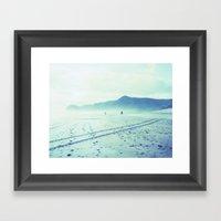 Piha Polaroid Framed Art Print
