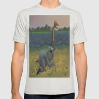 The truth of Loch Ness Mens Fitted Tee Silver SMALL
