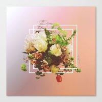 Cubic Bouquet Canvas Print