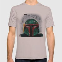 Boba Fett palette knife painting Mens Fitted Tee Cinder SMALL