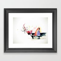 waiting. Framed Art Print