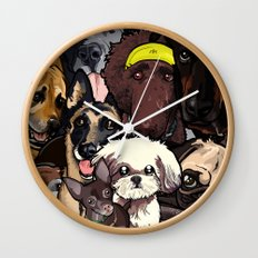 Dogs. Wall Clock