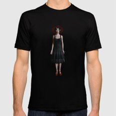 Road of girls SMALL Black Mens Fitted Tee