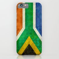 iPhone Cases featuring National flag of the Republic of South Africa by Bruce Stanfield