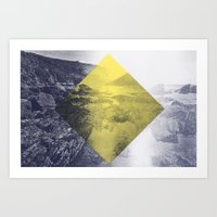 Yellow Diamond Art Print