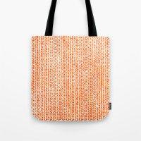 Stockinette Orange Tote Bag