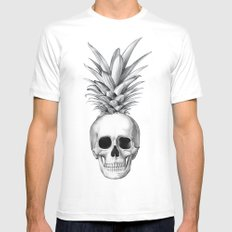 Pineapple Head Mens Fitted Tee SMALL White